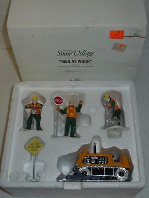 Department 56 Men At Work 54894 Set of 5 Ceramic Construction Figures + Access.