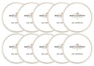 Moet & Chandon Ice Imperial Paper Coasters for Champagne Glasses Set of 10 Pcs