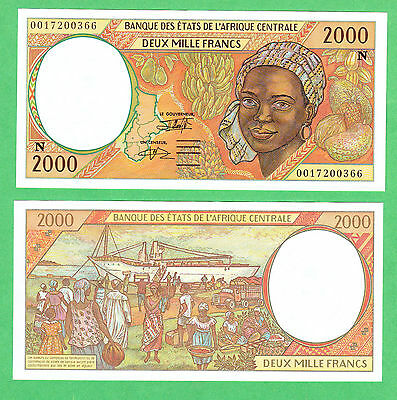 Central African States 2,000 Francs Note P-503Ng  UNCIRCULATED Equatorial Guinea