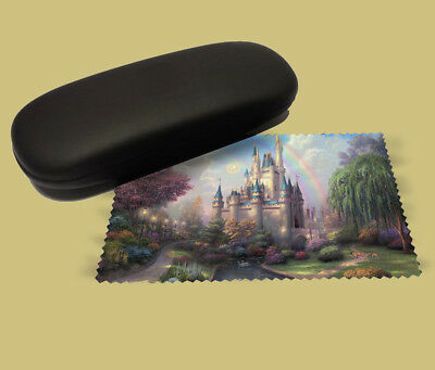 Disney castle art lens cloth screen wipe laptop pc glasses soft