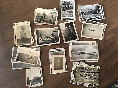 Lot of VTG WW2 WWII Photos c. 1940's - Planes, Aircraft, and Soldiers (L21-G3)