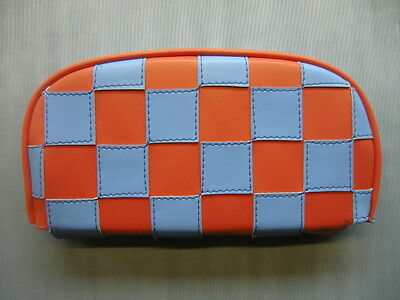 Orange/Light Blue Check Scooter Back Rest Cover (Purse Style)