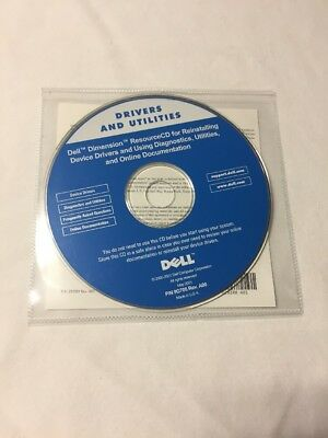 Dell Drivers And Utilities Reinstalling CD 9G705 REV 00