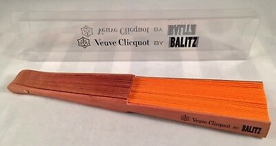 Champagne Veuve Clicquot: FAN wood and Fabric Designed by BALITZ New Boxed Rare