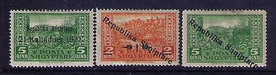 Albania  Stamps , SC#173 Error Ovpt 1921 instead of 1925;SC#178;180  MH
