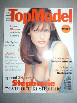 Magazine Revue de mode fashion ELLE TOPMODEL french #11 Stephanie Seymour