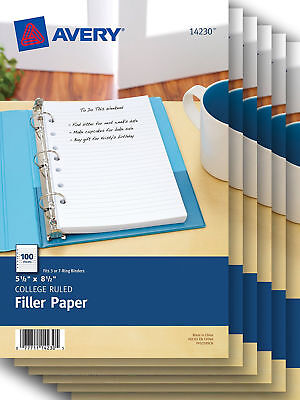 Avery Mini Filler Paper 5.5 x 8.5 Inches 100 Sheets 14230