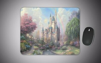 Disney castle art mouse mat gaming laser non slip fabric rubber