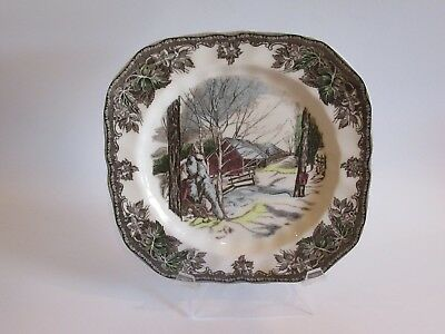 Johnson Brothers THE FRIENDLY VILLAGE BARN Square Salad Plate - NEW