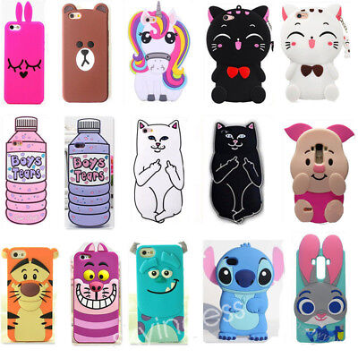 3D Cute Cartoon Animal Silicone Soft Phone Cover Case Skin For Samsung Sony LG