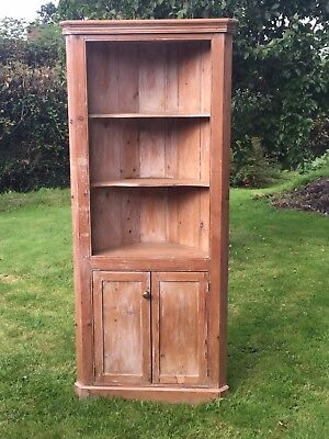 Antique Victorian Vintage style Pine Kitchen/Lounge Cupboard.