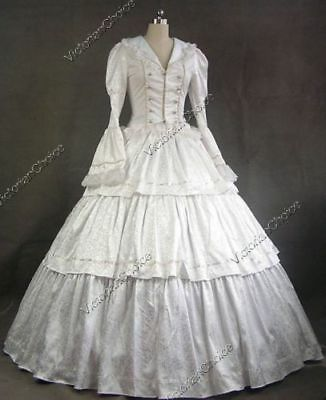 Victorian White Ghost Wedding Gown Halloween Theater Costume XXL Fits Like XL