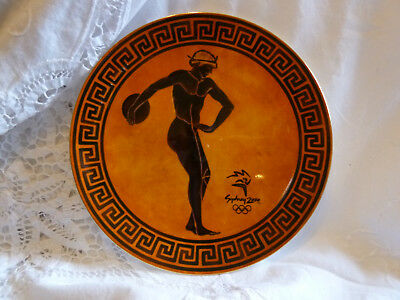 Wedgwood Grecian Discus Thrower Plate Sidney Olympics 2000