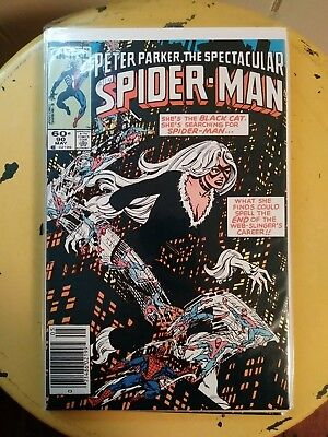 Spectacular Spiderman #90 1984 1st black costume