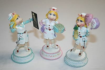 3 Miss Piggy Nurse Moi Figurines Numbered 'Nurses Are So Sty-lish Collection'