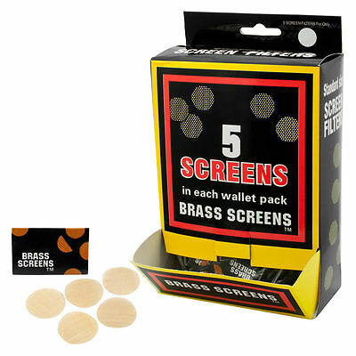 """100+ COUNT .750"""" 3/4"""" 19mm BRASS SCREENS FOR TOBACCO GLASS METAL WATER WOOD PIPE"""