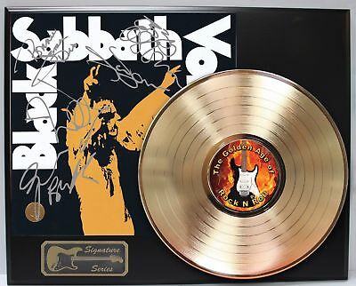 Black Sabbath Gold LP Record Display With Reprinted Autographs - Limited Edition