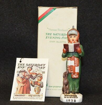 Norman Rockwell Saturday Evening Post  Collection - Carroler- Ornament 1978 Mib