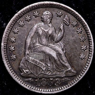 XF+ Details 1853 Seated Liberty Half Dime R2SCC