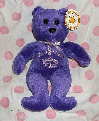 JC Celebrity Bear #16~QUEEN OF COUNTRY~Deep Purple Princess~Shania Twain~Beanie
