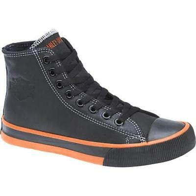 Harley-Davidson® D93816 Men's Nathan Black Hi-Top Sneakers Shoe-USA