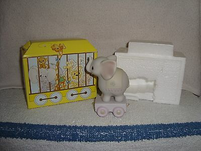 Precious Moments Birthday Train Figurine, Elephant Age 4 with Original Box
