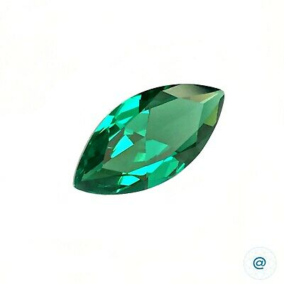 Emerald Green #112A. Marquise 14x7 mm.  2,2 ct. SIAMITE Created Gemstone US@GEMS