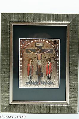 christian icon the crucifixion распятие господнее икона