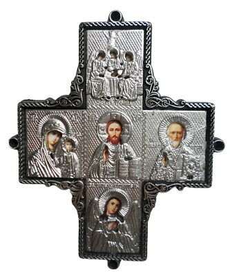 russian orthodox  big cross with icons for car window or dashboard