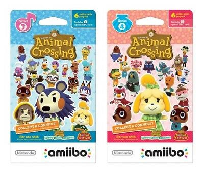 Animal Crossing Amiibo Cards Series 3 & 4 (Individual Cards - you pick!)