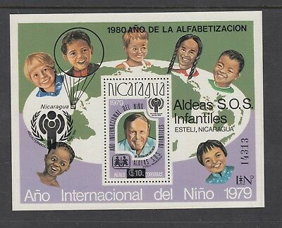 NICARAGUA: 1980 Literacy Year o/prt on 1979 Int. Year of Child M/S SG 2248, MUH.