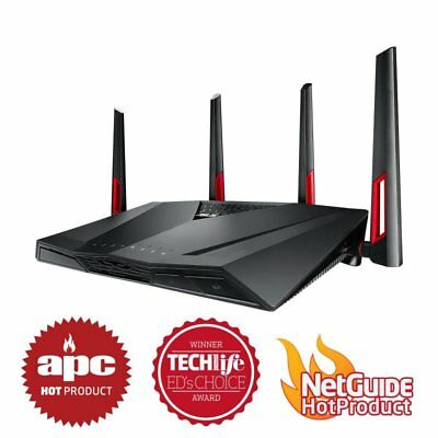 ASUS RT-AC88U Dual-band Wireless AC3100 8x Gigabit Ports Gaming Router NBN Ready