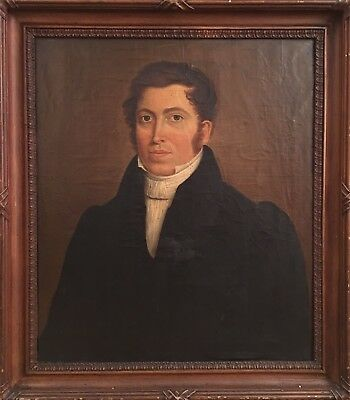 Fine Early 19th C Portrait Of A Gentleman. Antique Oil Painting, Framed.