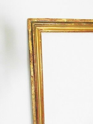 Antique french gilt frame wood and gesso 19 th