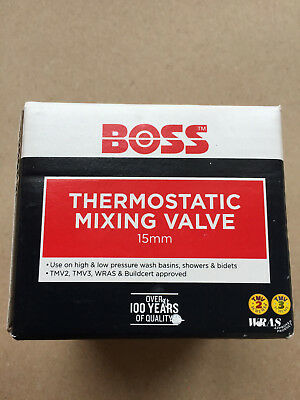BOSS Thermostatic Mixing Valve 15mm