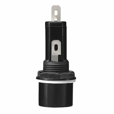 "Screw-Cap Panel-Mount Fuse Holder For 1 1/4"" X 1/4"" Fuses 250VAC 10AMPS 270-0367"