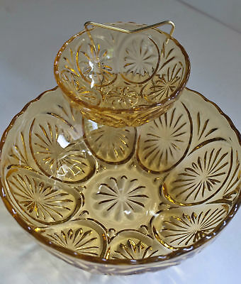 Vintage Anchor Hocking Chip and Dip Set 3 Piece