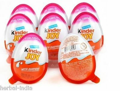 12 X Kinder JOY Surprise Eggs, Ferrero Kinder Choclate Best Gift Toys, for GIRL