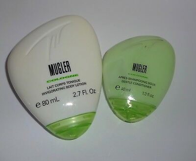 Thierry Mugler Cologne Unisex Travel Set Conditioner Body Lotion