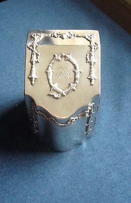 Victorian silver mounted playing cards box