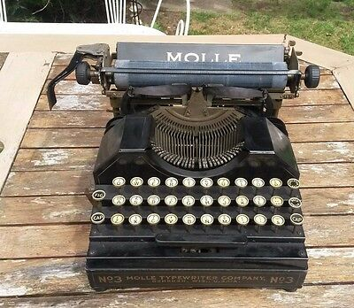 Vintage Molle No 3 Typewriter, Fully Functioning