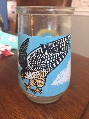Welch's Glass Jar North American Collection-RARE-Peregrine Falcon- Free SHIPPING
