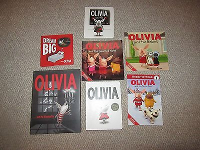 Lot of 7 Olivia the Pig Picture Books Olivia Counts SnowDay Dream Big MissingToy