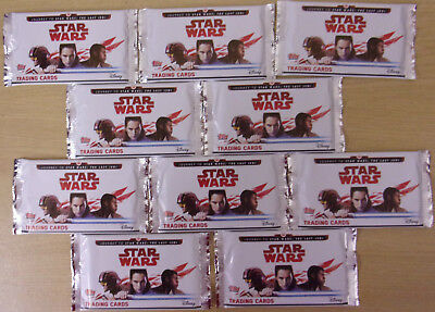 Star Wars ~ Journey To The Last Jedi ~ Topps Trading Card Game 10 x Sealed Packs
