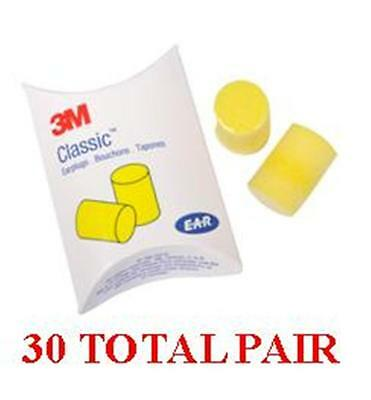 3M EAR Classic Uncorded Foam Pillow Pack 310-1001 - 30 Total Pair