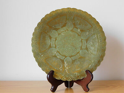 c.19th - Antique Vintage Islamic Persian Plate Tray Brass