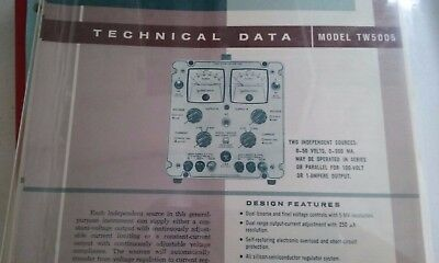 POWER DESIGNS TW5005   power supply Instruction Manual with schematic