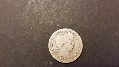 1916-P Barber Quarter! 90% Silver! Free Shipping!