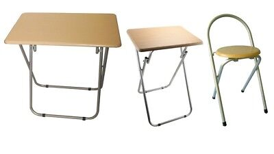 Wooden Folding Foldable Table And Chairs Beech