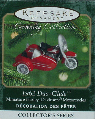 2000 Hallmark Harley Davidson Motorcycle 1962 Duo-Glide Ornament Miniature 2nd